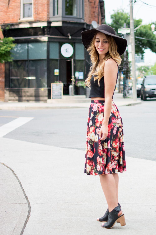 25991a59e OOTD - Floral Midi Skirt for Summer   Fashion   Summer skirts, Skirt ...
