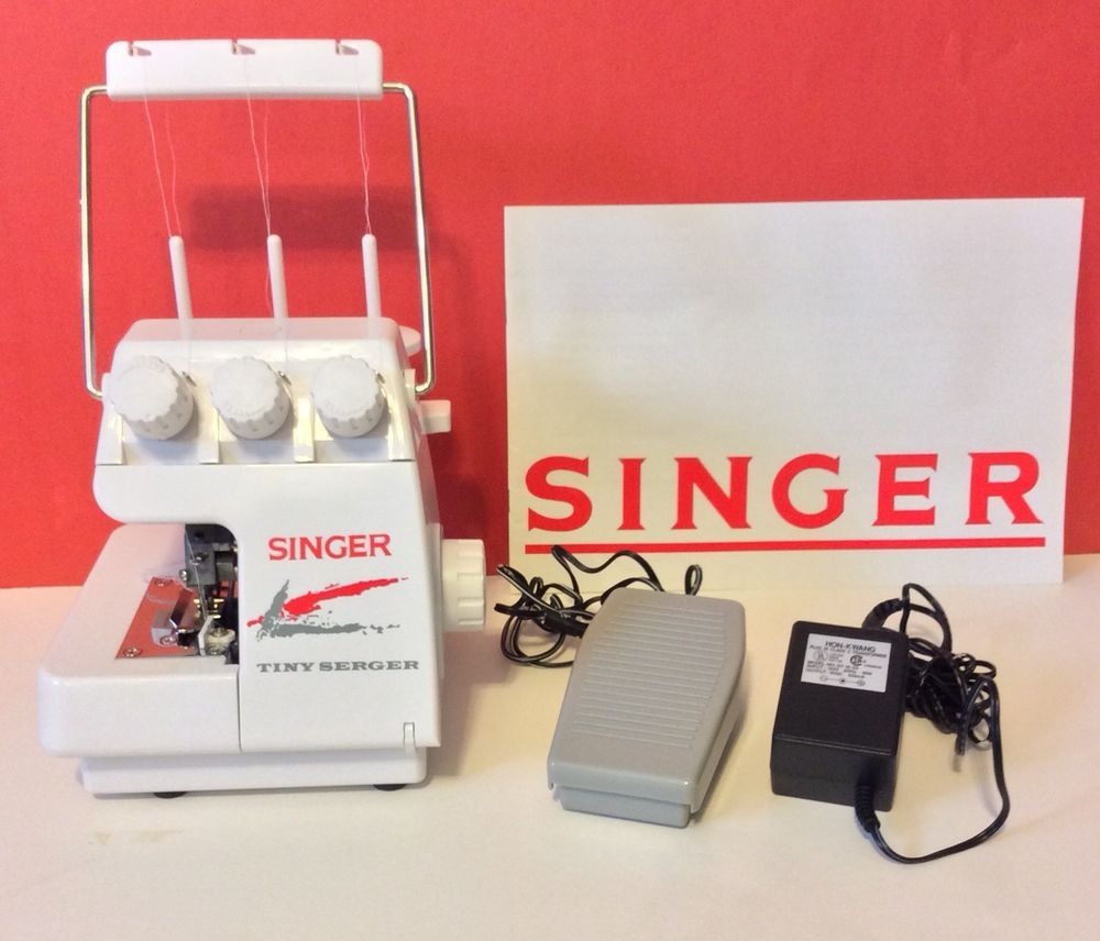 Singer Tiny Serger Model : TS380 PLUS Electronic Sewing Machine Only used 2  times Great Condition Comes in original box with: Manual Foot Pedal Power  Supply ...