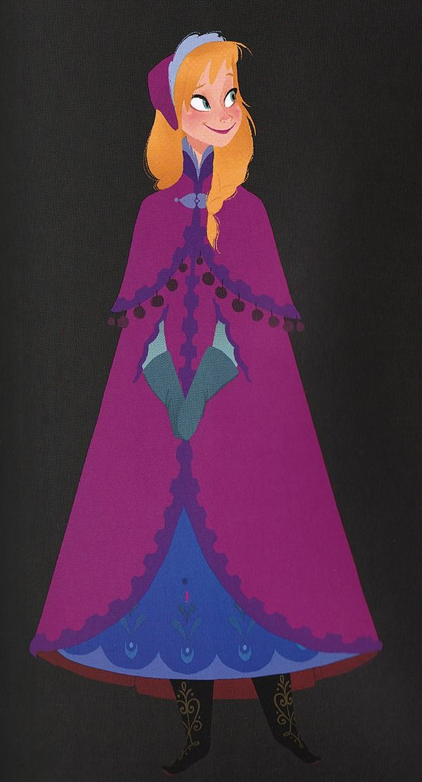 Frozen (2013) Anna character design, by Michael Giaimo, Bill Schwab, Claire Keane, and Minkyu Lee