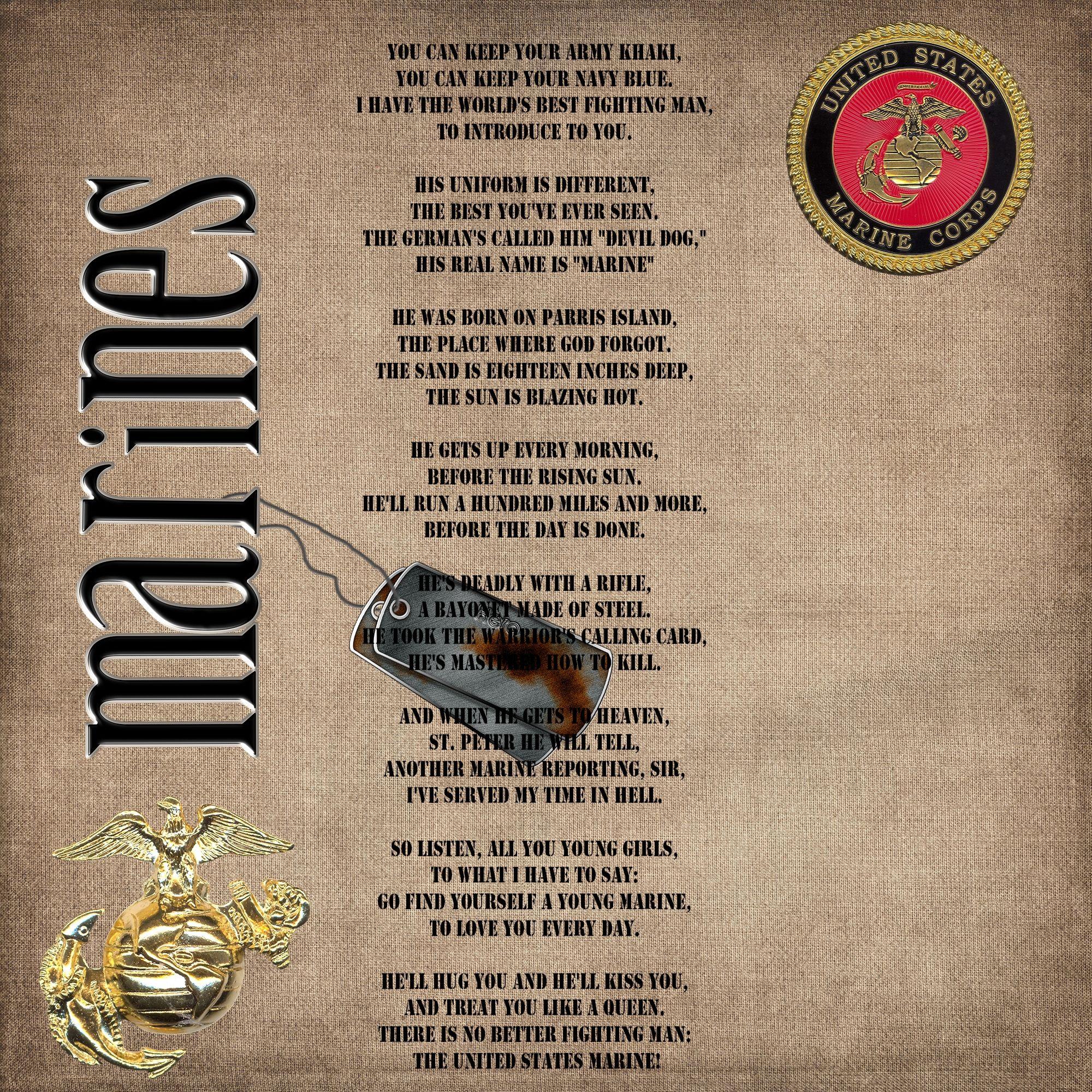Marines Scrapbook Com Scrapbooking Marine Mom Quotes