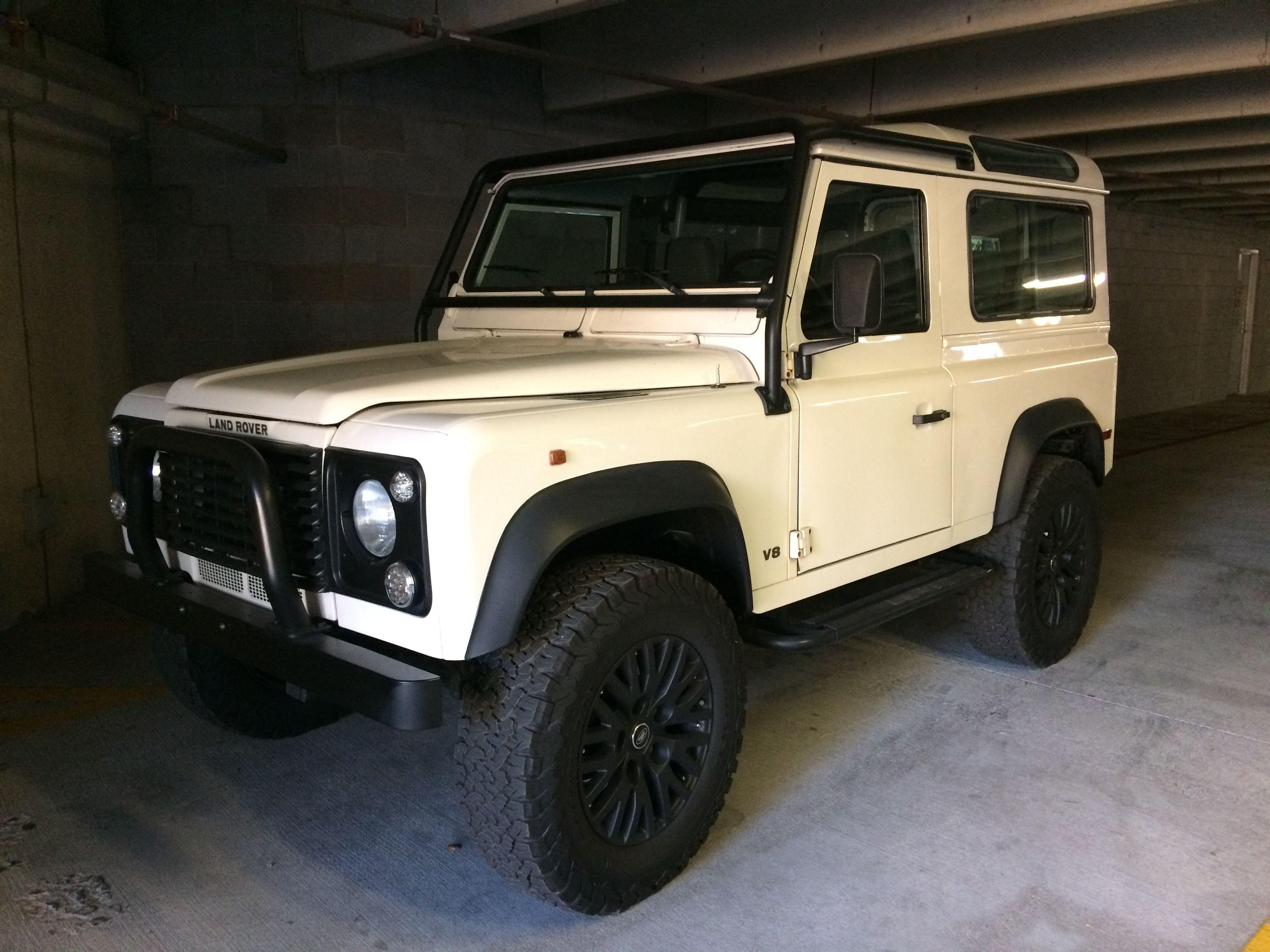 Classic White Land Rover Defender Land Rover Land Rover Defender Vintage Cars