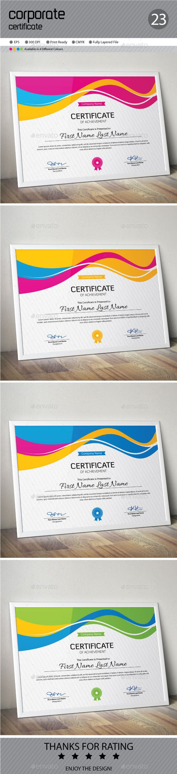 Certificate certificate templates certificate design and certificate template vector eps download here httpgraphicriver yadclub Gallery