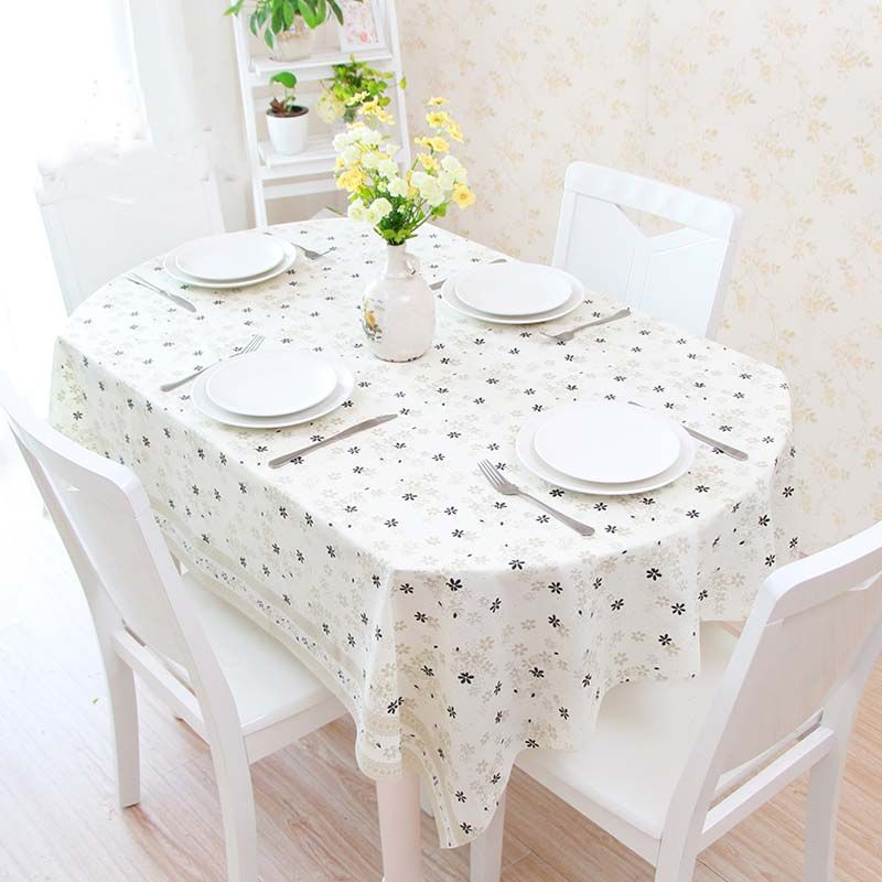 High Qualit Oval Table Cloth Lace Plastic Oval Table Tablecloth