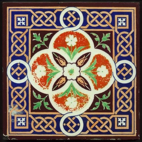 Th2076 Extremely Rare 8x8 Pugin Gothic Tile Minton Amp Co C