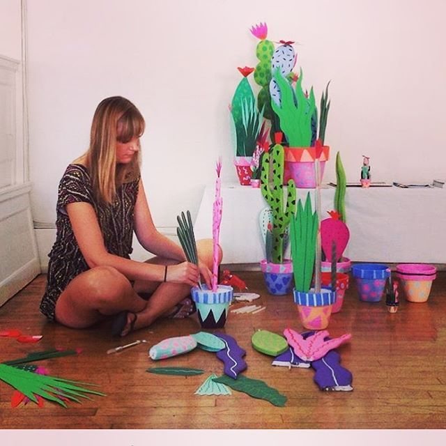 Paper plants and cacti :)