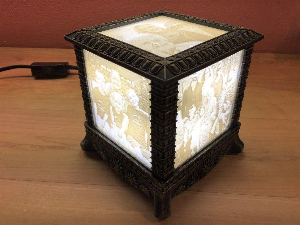Gothic Lithophane Light By 3dprintingworld Thingiverse Lamp Diy Lamp Light