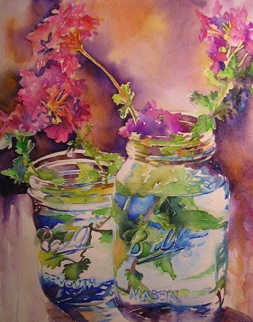 Susan Keith Watercolor Artist Still Life Floral Watercolor