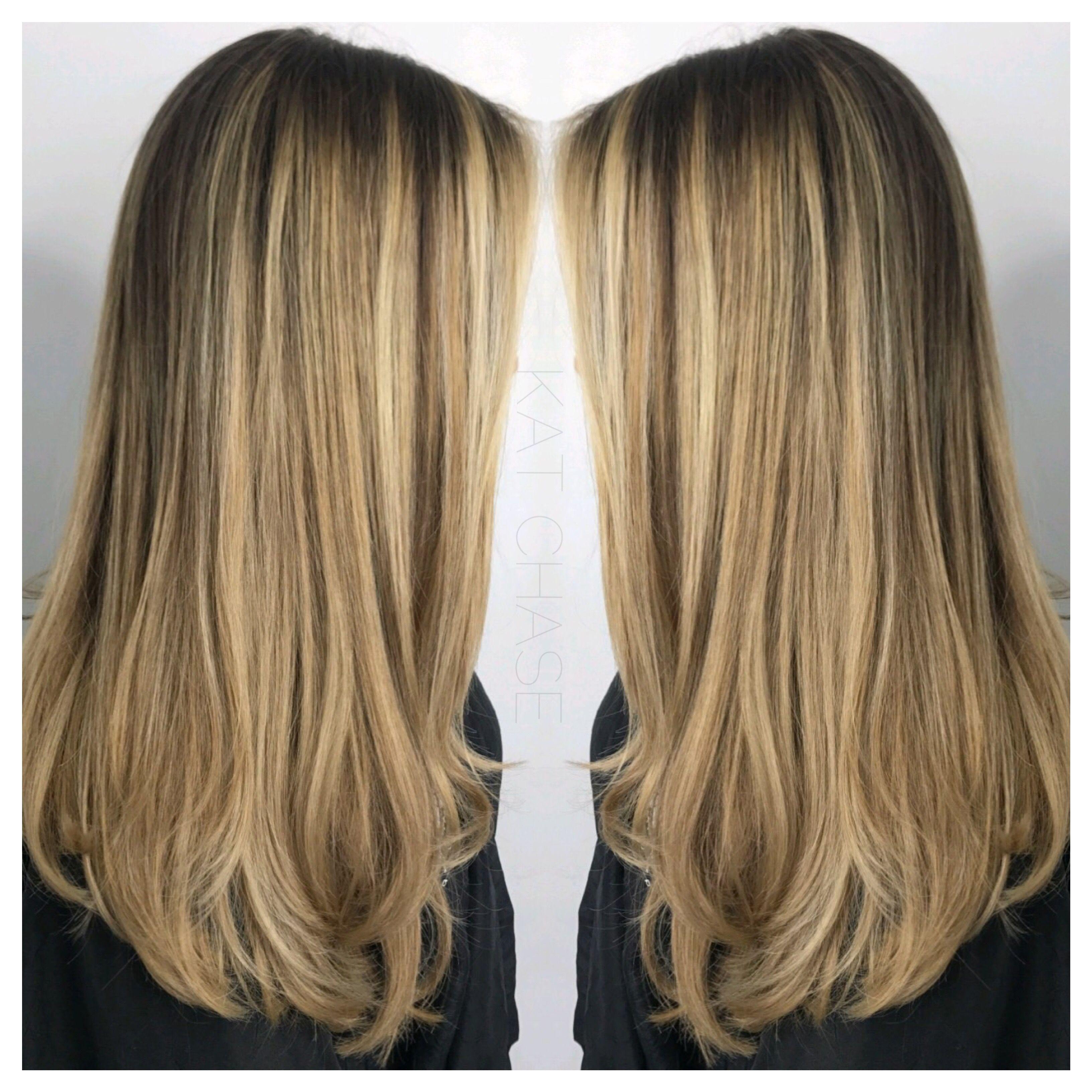 Blonde balayage haircolor and haircut creations pinterest