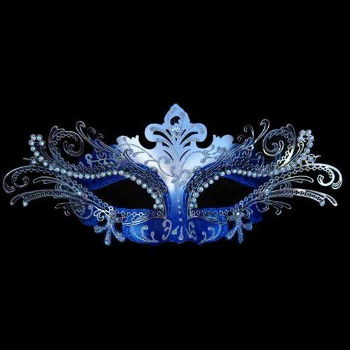 Decorative Venetian Masks Unique Blue Silver Decorative Metal Venetian Mask Design Decoration