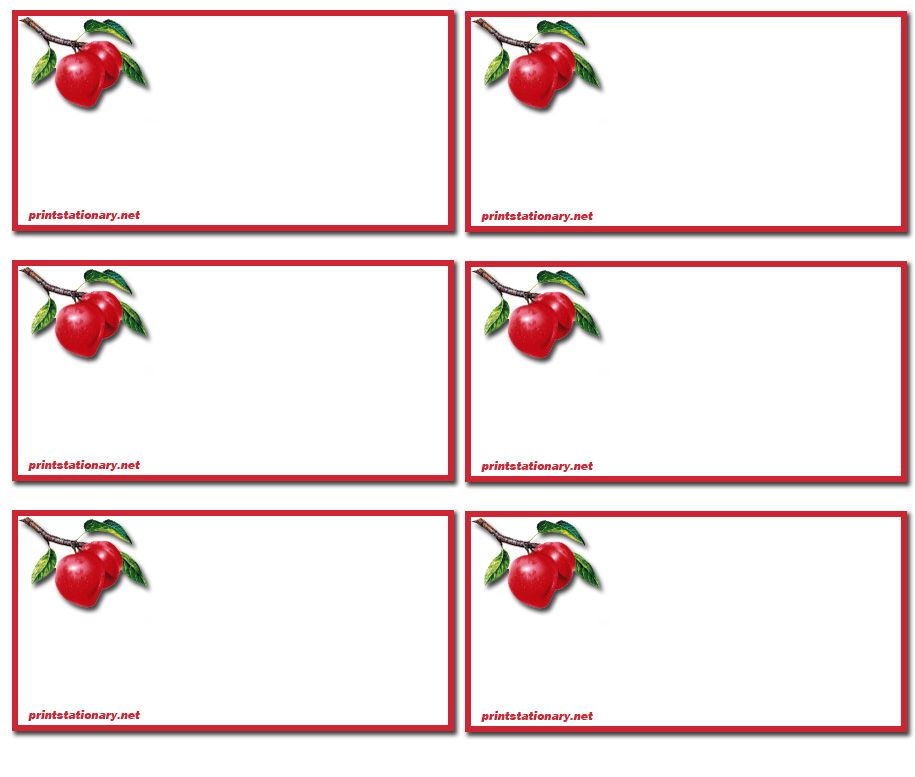 Make printable address book red apple kids printable for Free address label templates for mac