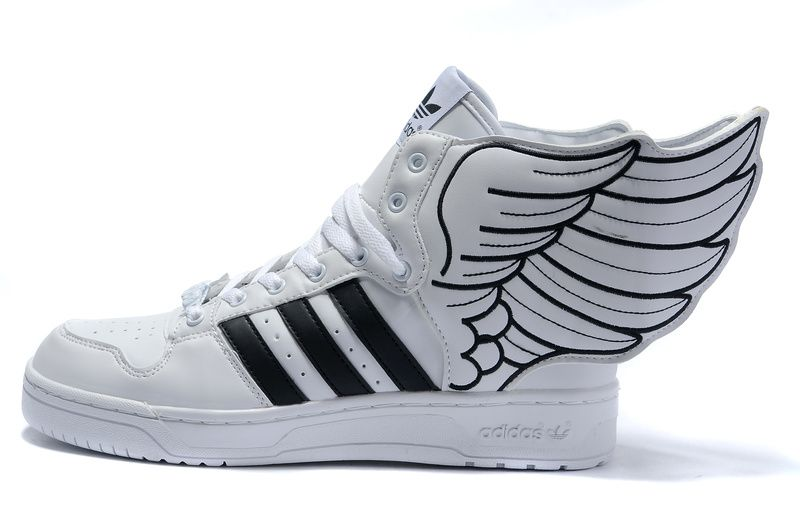 5902a71ca5ff12 Adidas Jeremy Scott Wings Shoes 2.0 White Black