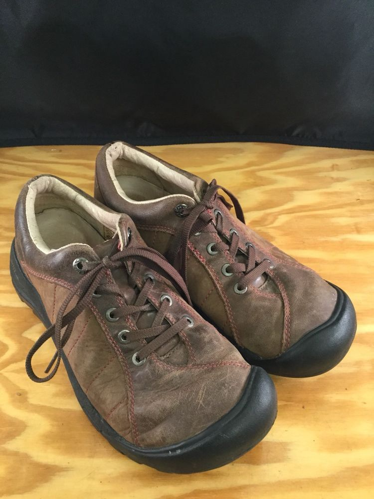 455c82bdb1dc Womens KEEN Brown Leather Lace Up Casual Hiking shoes sz 8.5M-RV 109 ...