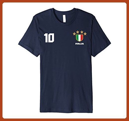 306e43988c5 Mens Italian Italy Calcio Football Futbol Soccer Jersey T-Shirt Medium Navy  - Sports shirts ( Partner-Link)