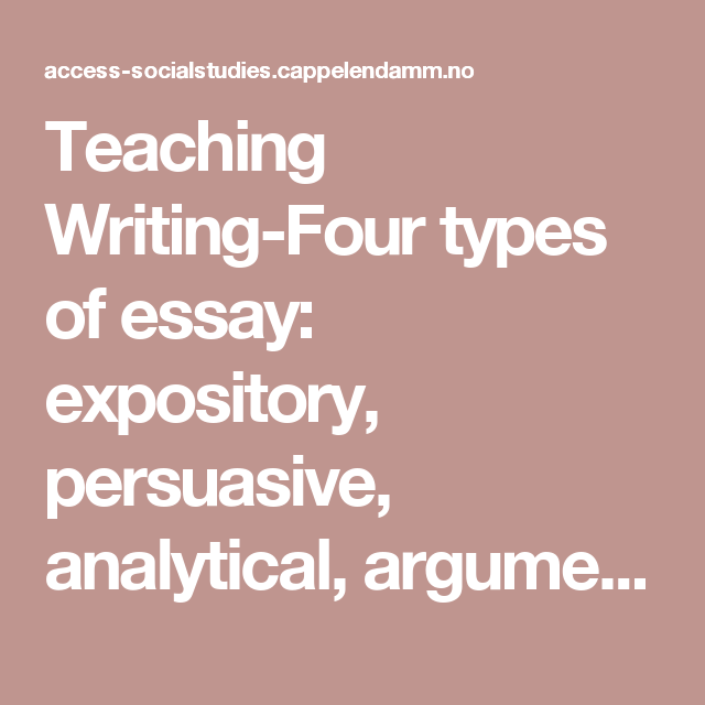 types of analytical essays