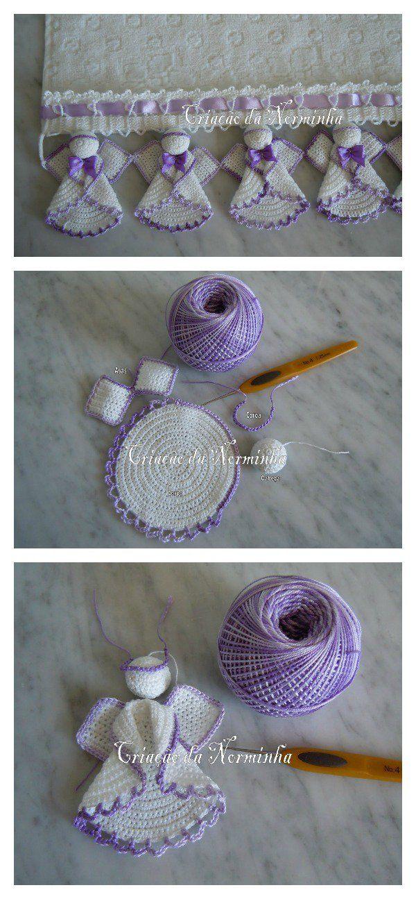 Christmas Angel Ornaments Free Crochet Pattern | Ángeles de ...