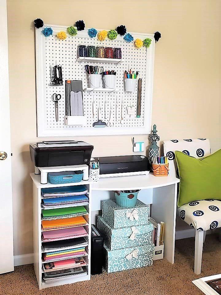 Re-purposed Paper Organizer Desk