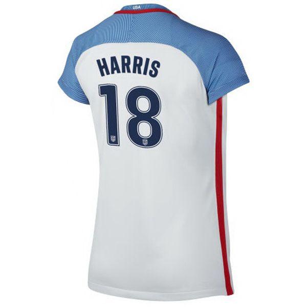 ca94ad0e5 2016 Home Ashlyn Harris Jersey USA Women s Soccer  18 - White