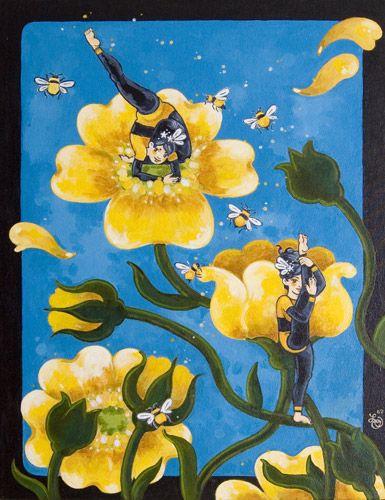 Bee Imitationists by lizzelizzel.deviantart.com on @DeviantArt