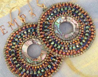 Semence de perles Boucles d'oreilles grand disque par WorkofHeart