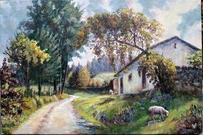 cuadros pintados al oleo de paisajes nevados | art pastels ...