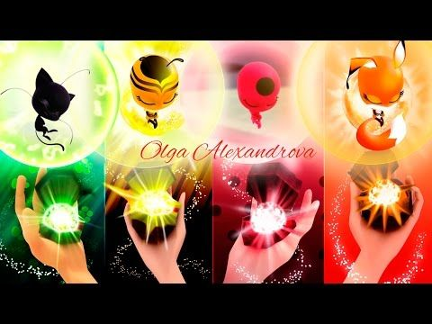 (7) Miraculous Ladybug Season 2 Transformation Miraculous Ladybug, Queen Bee, Volpina Speededit Kwamis - YouTube
