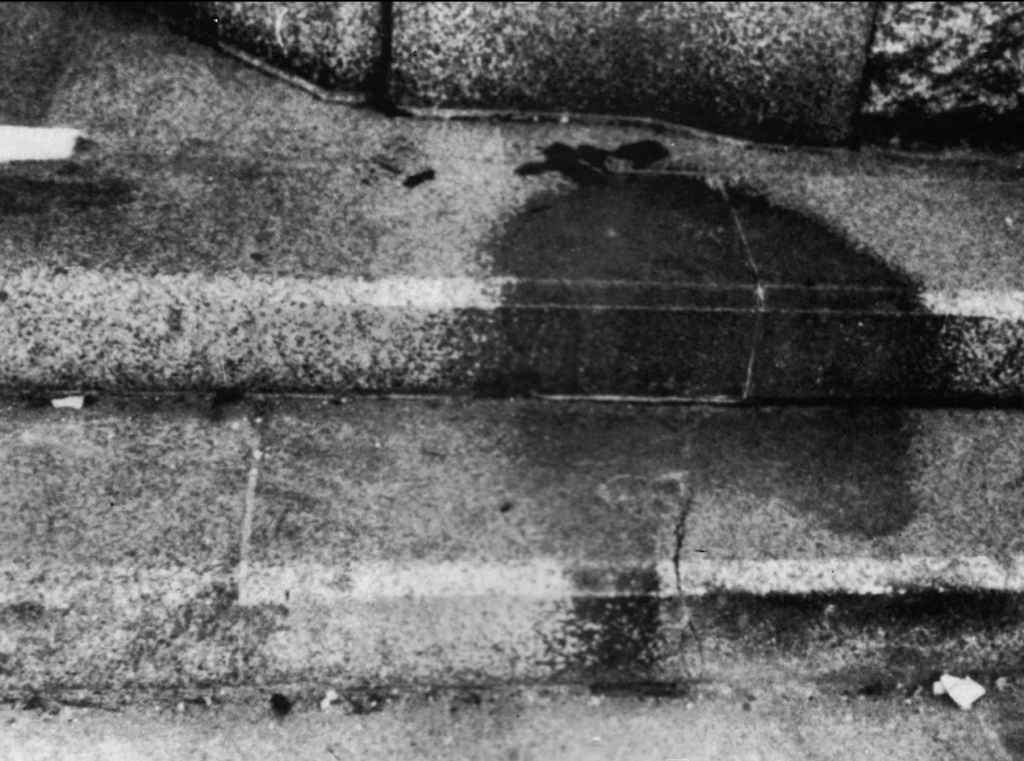 Hiroshima Shadow Of A Disintegrated Victim Permanently Etched