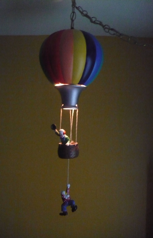 Vintage Hot Air Balloon Light, Clown Night Light, Kids ...