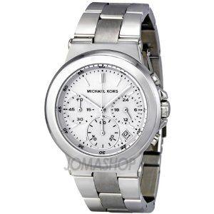 Michael Kors Watches Michael Kors Ladies Silver Chronograph (Silver), (womens watch, dress watches, michael kors, boyfriend watch)