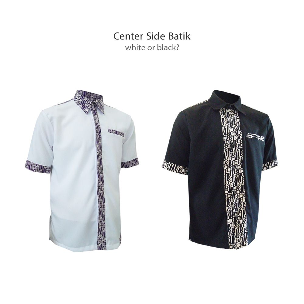 Black t shirt tambah lagi - Center Side Batik White Or Black Kemejabatikmedogh Http Medogh Com