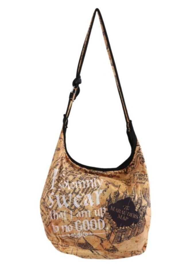 Nwt Harry Potter I Solemnly Swear The Marauder/'s Map Wizard Hobo Tote Bag Purse