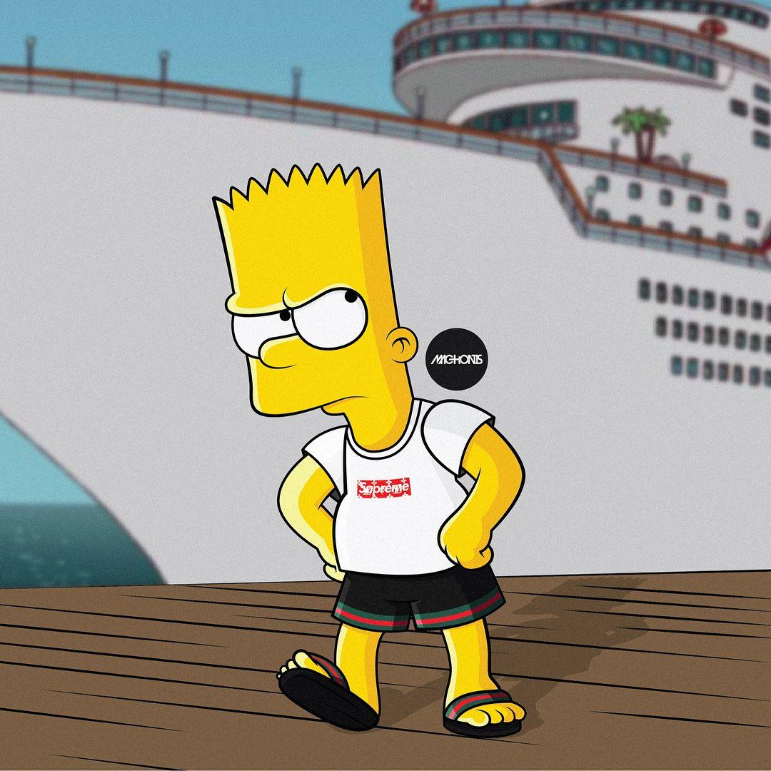 Pinterest ADC Fond d'écran suprême, Simpsons, Casquette