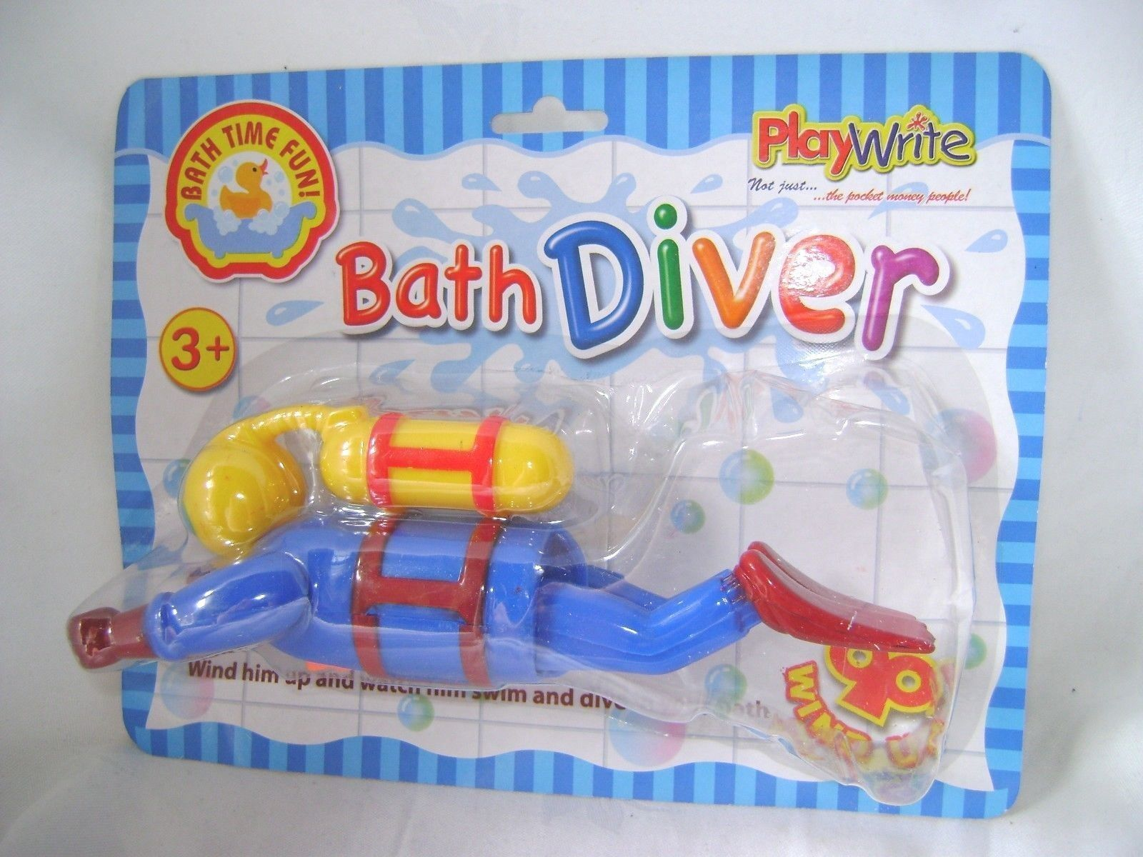 New wind up swimming bath toy #scuba diver #bathtime #toddlers ...
