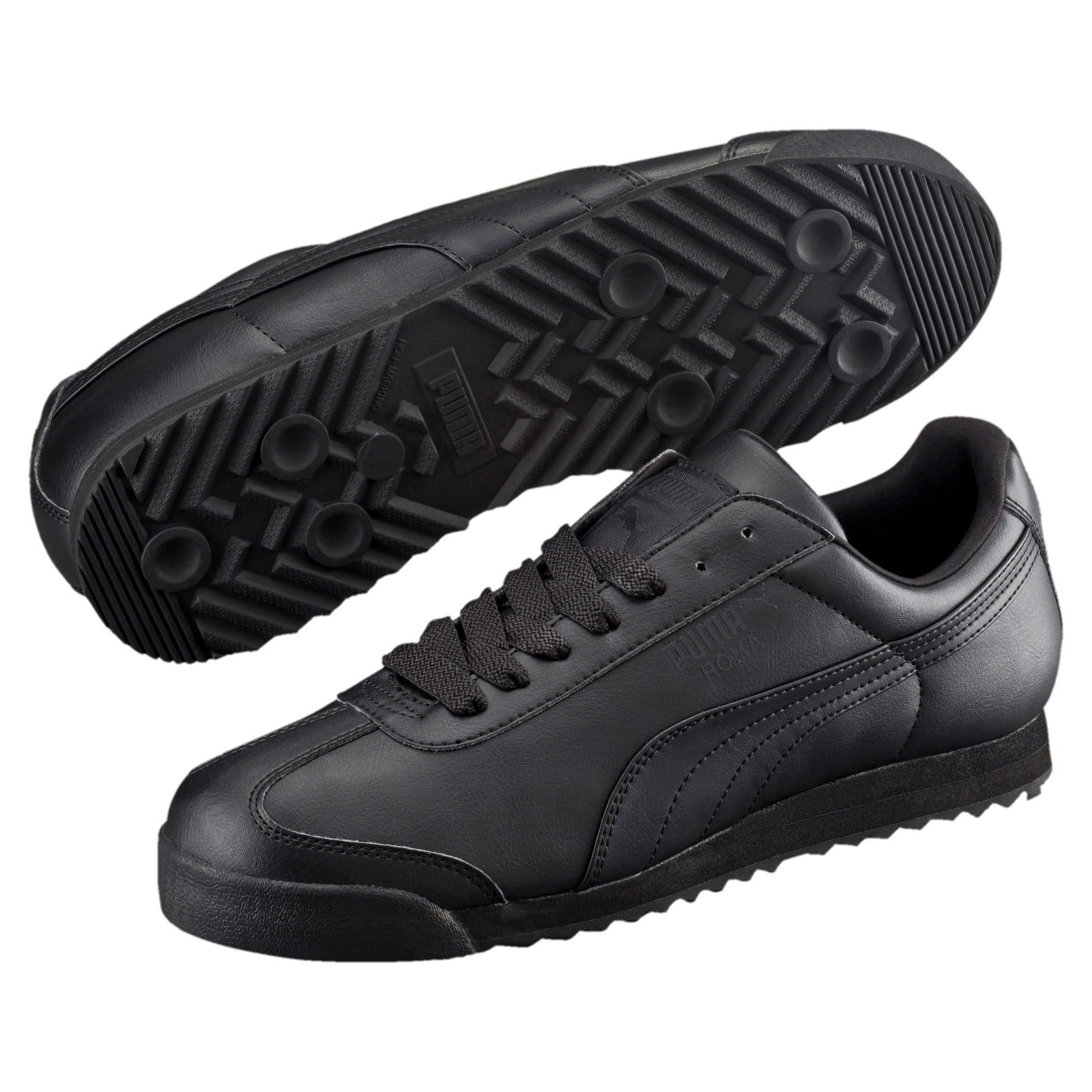 Men's PUMA Roma Basic Trainers in Black size 4.5 | Mens ...