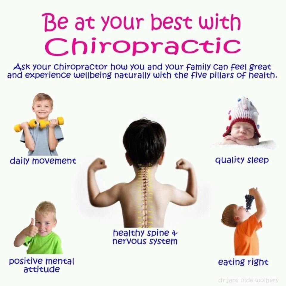 Chiropractic can help keep kids healthy.