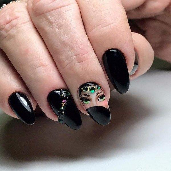 дизайн ногтей с наклейками 5