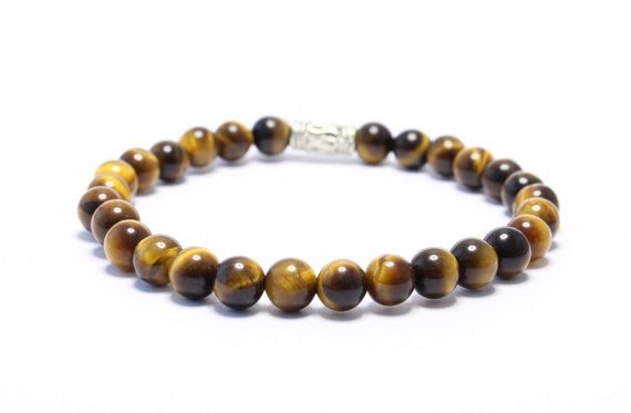 Tiger eye beaded stretchy bracelet 5mm custom made