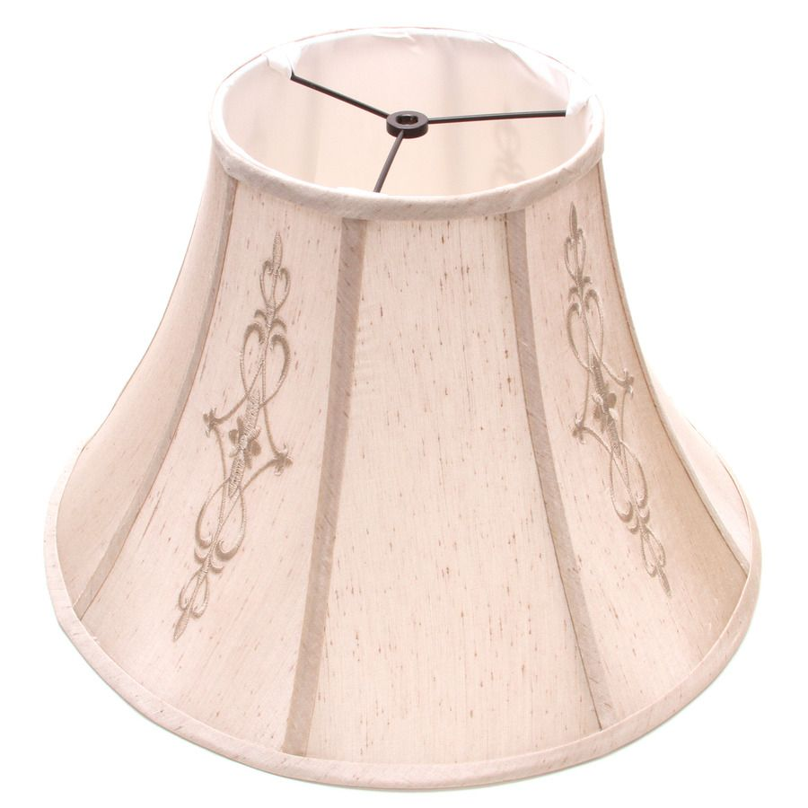 Bell Lamp Shade Awesome Allen  Roth 177In X 179In Beige Fabric Bell Lamp Shade Design Ideas