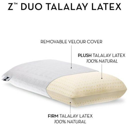 Amazon.com - Z® by Malouf Duo-Latex Two-Sided Talalay Latex Plush and Firm Pillow