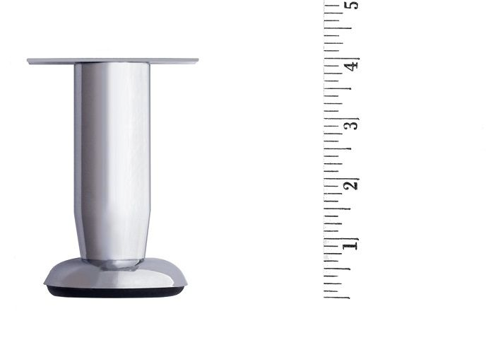 Check out the deal on Metal Furniture Leg LRT2640 Nickel Round at DIY Upholstery Supply