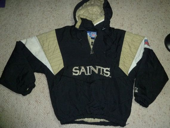 cheap for discount bbeac b3b20 Vintage saints starter jacket | back in my day | Nfl saints ...