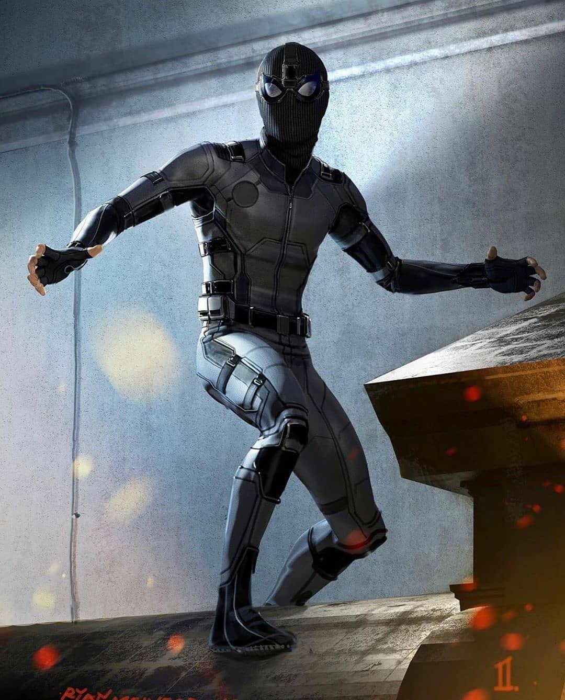 ในภาพอาจจะม หน งคนข นไป Stealth Suit Spiderman Spiderman Art Sketch