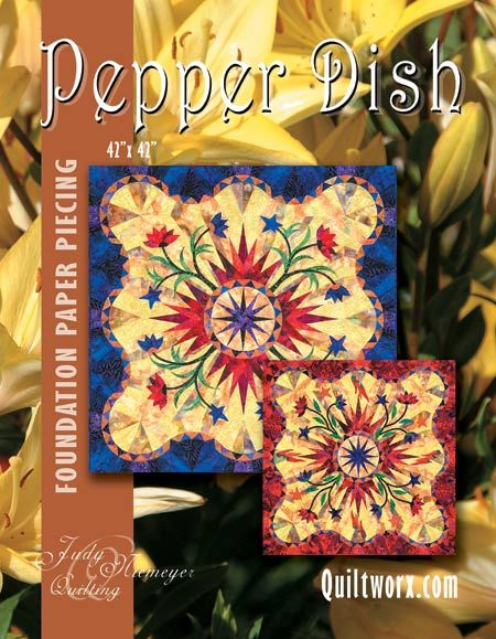 Pepperdish - Available from Quiltworx.com - A Judy Niemeyer Quilting Company. Shop for more patterns and quilting supplies on store.quiltworx.com