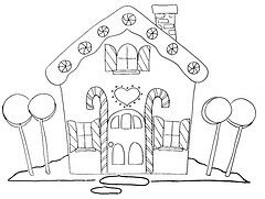 gingerbread house embroidery pattern