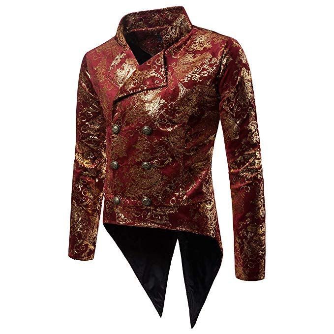 0e61444623f54 WULFUL Men s Luxury Casual Dress Floral Suit Slim Fit Stylish Blazer Jacket  Halloween Costume Tuxedo  halloween  gift