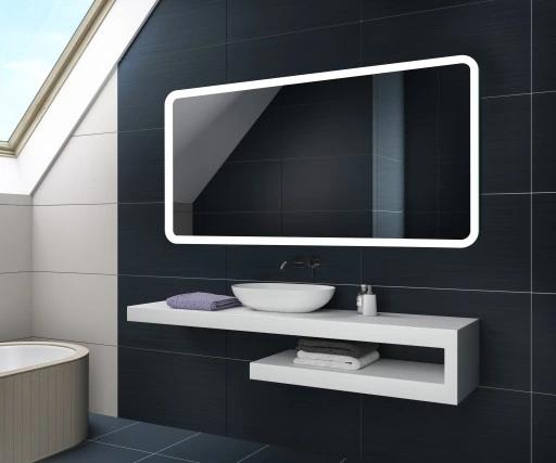 Lustro Lazienkowe Podswietlane Led 80x60 L59 416 90 Zl Allegro Pl Raty 0 Darmowa Dostawa Ze S Bathroom Mirror Lighted Bathroom Mirror Bathroom Lighting