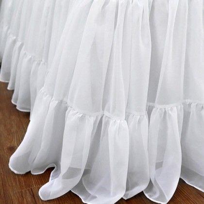 Chiffon Ruffle Bed Skirt Skirts Bedding Chic