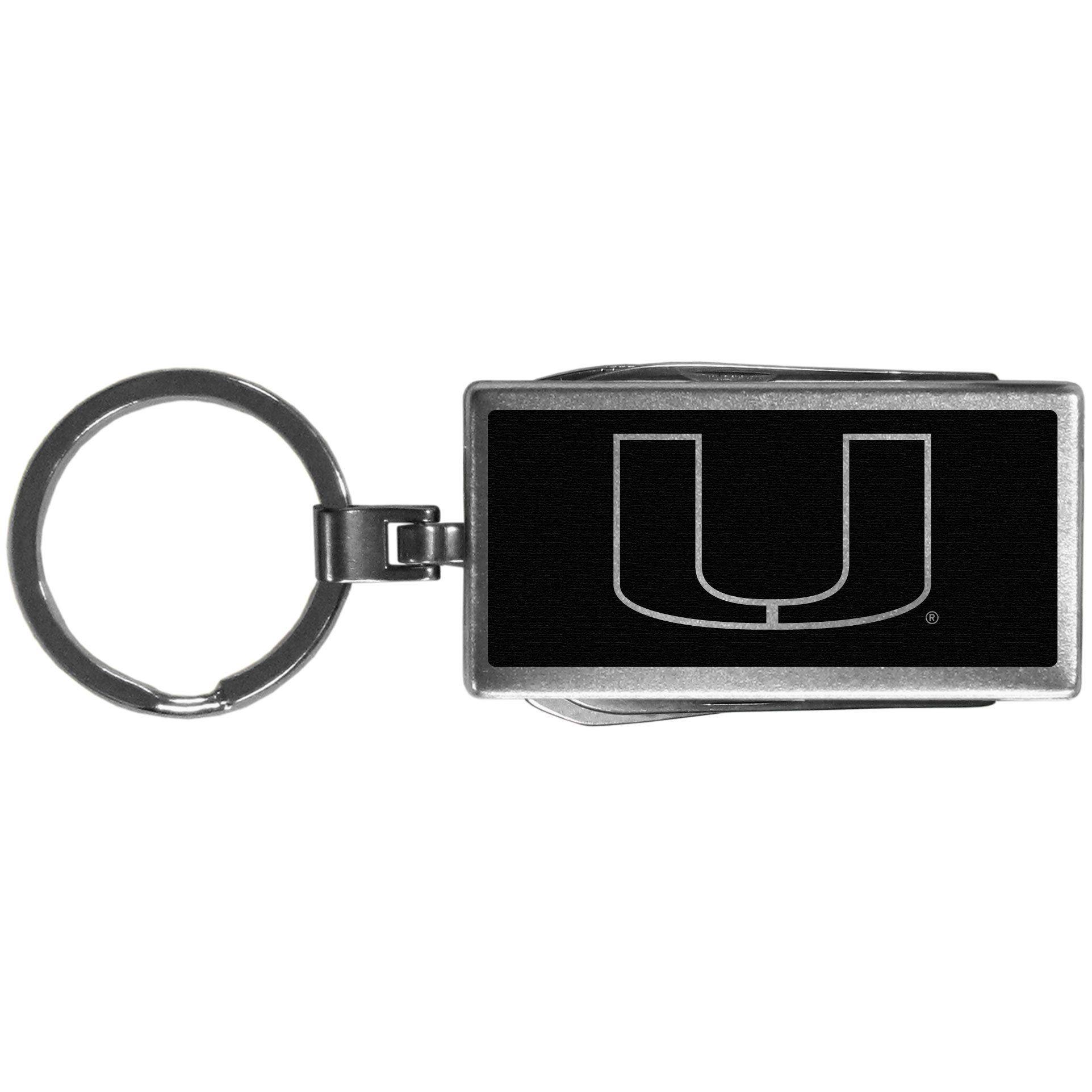 Siskiyou NCAA Square Key Chain Miami Hurricanes Black