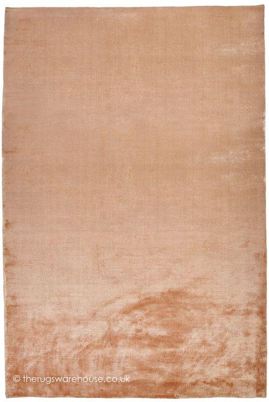 Soft Shiny Peach Rug A Super Plain Hand Woven Vegetable Silk That