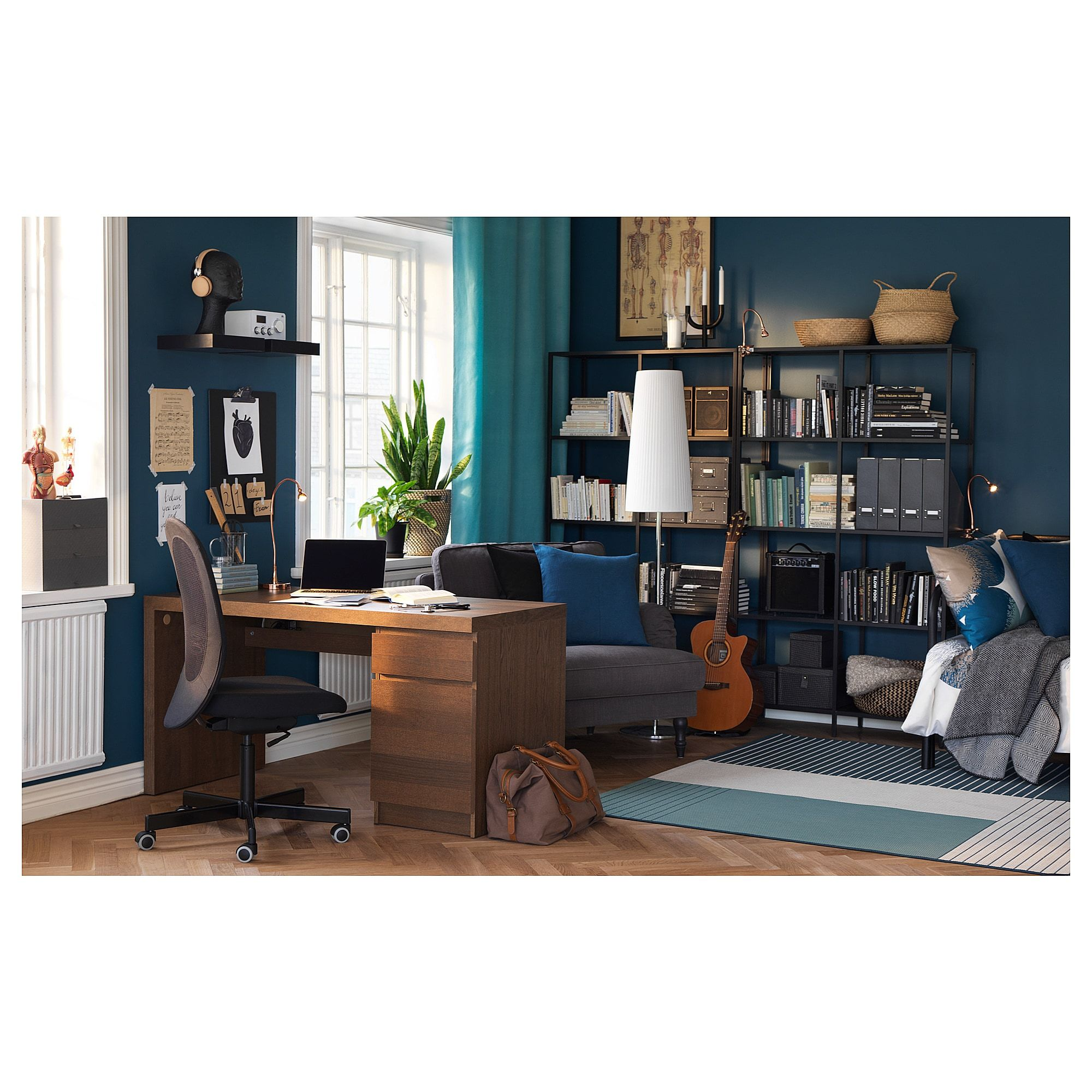 sports shoes a5c00 9cf1f IKEA - MALM Desk brown stained ash veneer | Products in 2019 ...