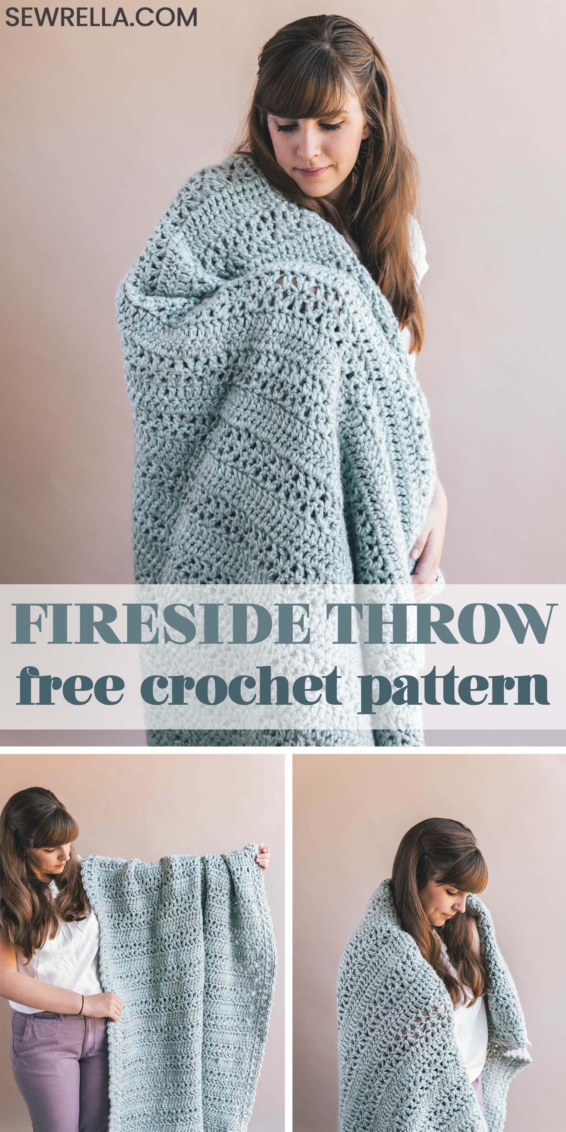 Crochet Fireside Throw • Sewrella